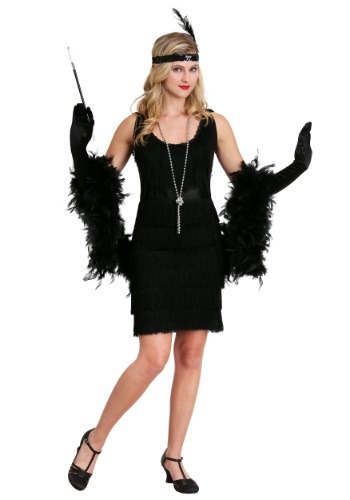Black Fringe 1920's Flapper Costume Update1