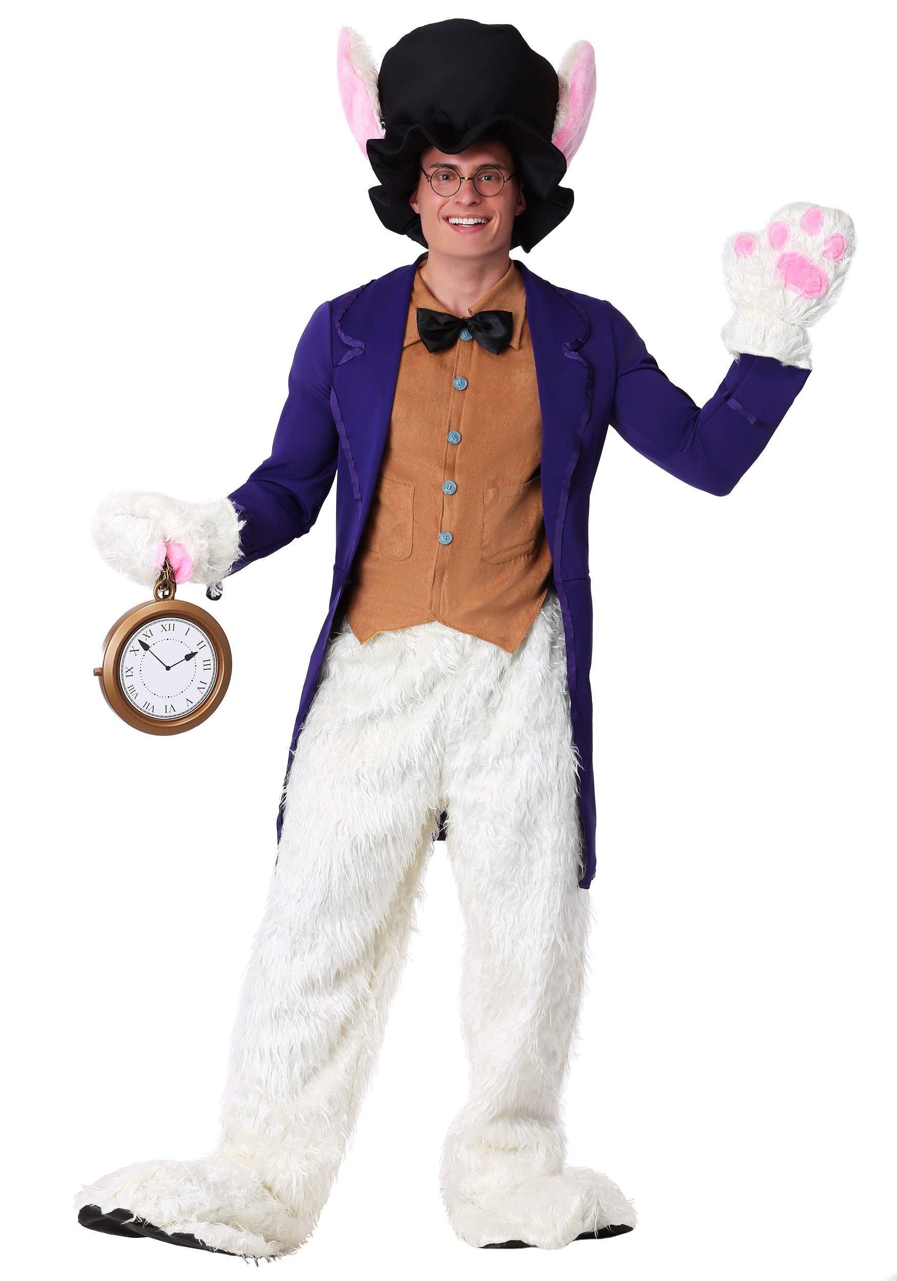 White Rabbit Costume Accessories White Rabbit Adult Costume