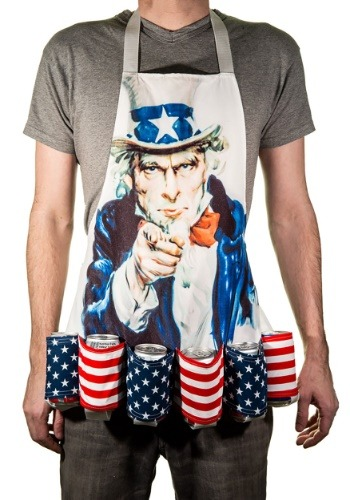 Uncle Sam Fourth of July Beer Belt Apron