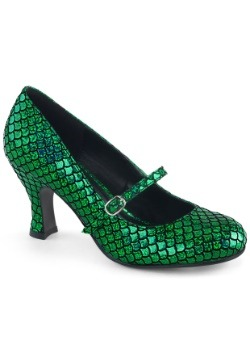 Women's Green Mermaid Heels1