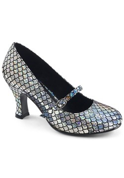 Women's Silver Mermaid Heels1