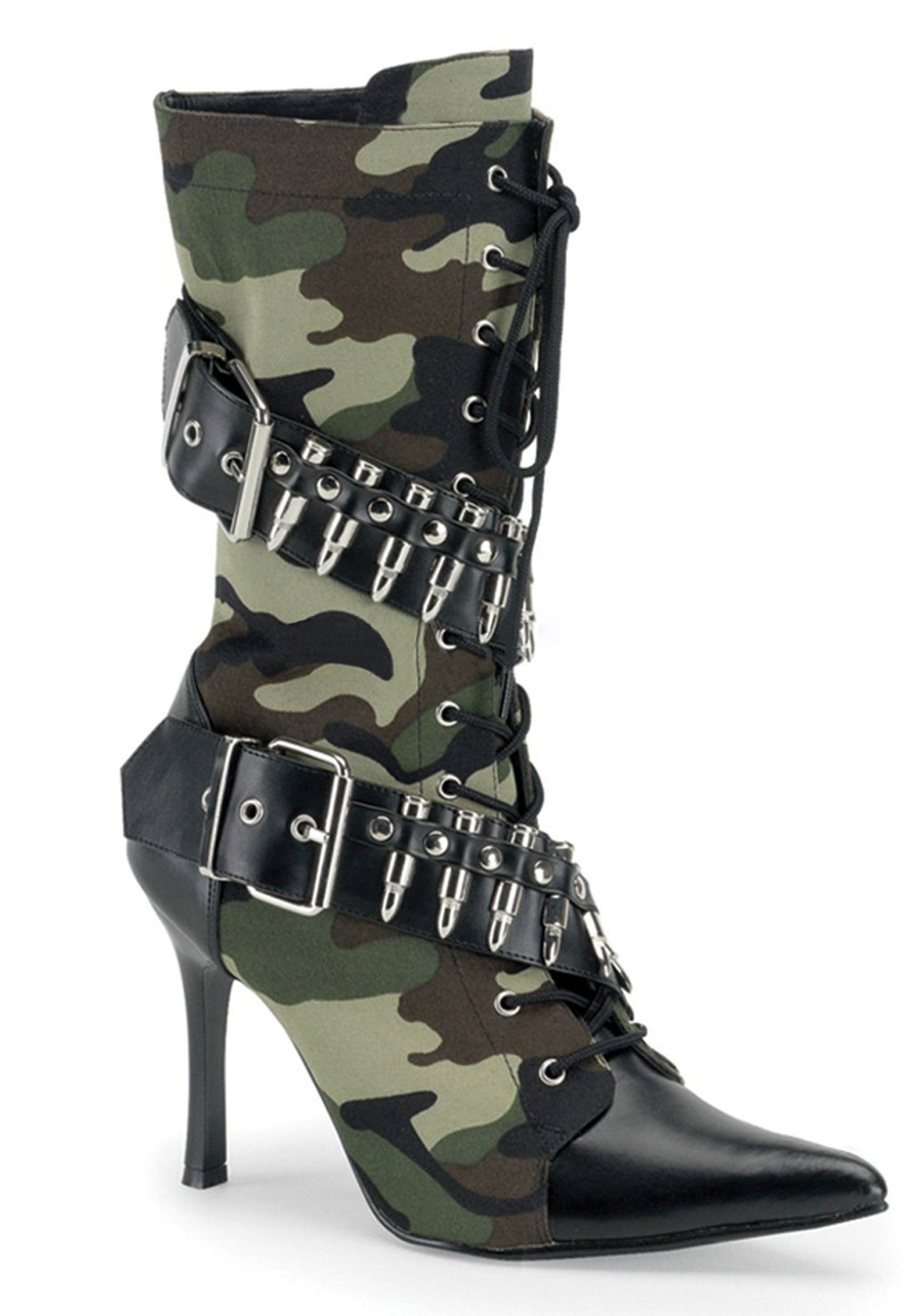 Women S Army Lace Up Boots