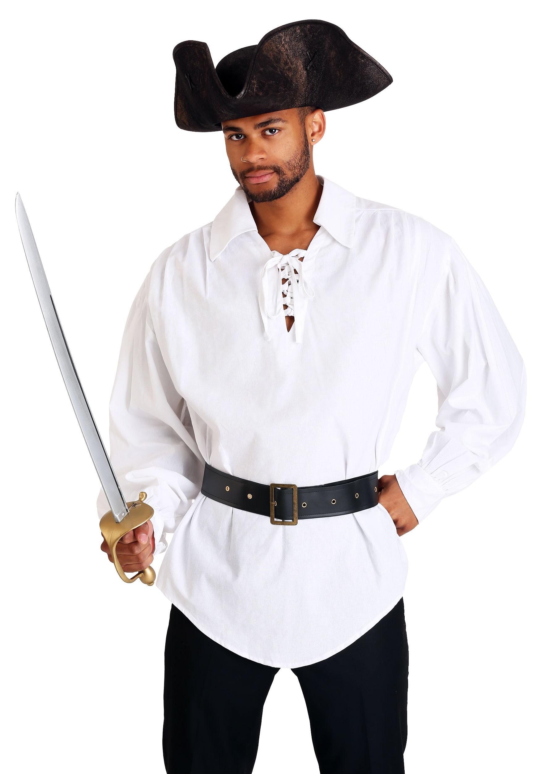 Make Halloween Decorations At Home White Pirate Shirt