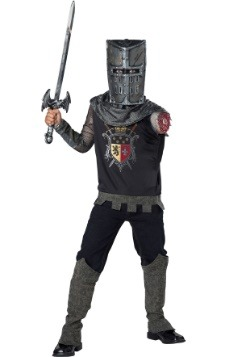 Boy's Black Knight Costume