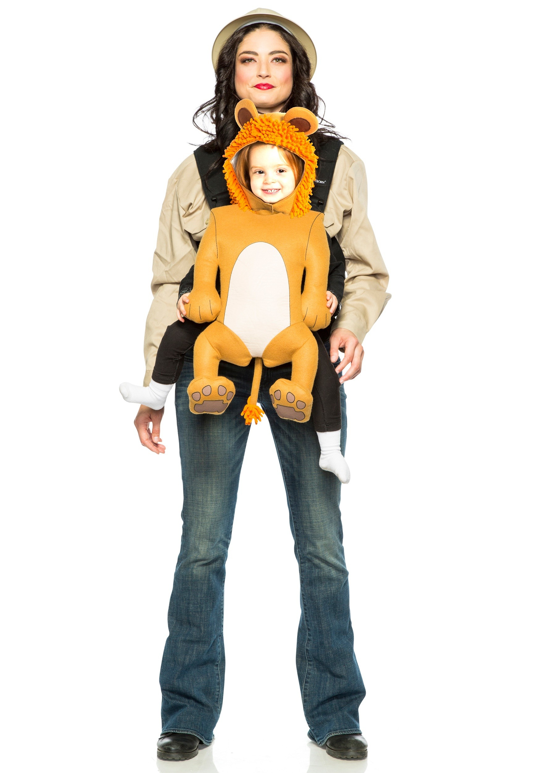 Adult Safari Guide And Toddler Lion Costume