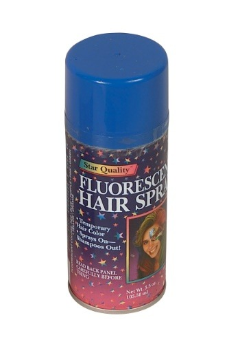 Click Here to buy Hair Spray Blue from HalloweenCostumes, USA Funds & Shipping