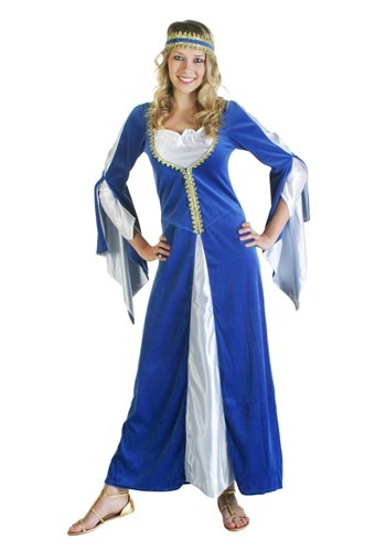 Click Here to buy Blue Regal Princess Renaissance Costume from HalloweenCostumes, USA Funds & Shipping