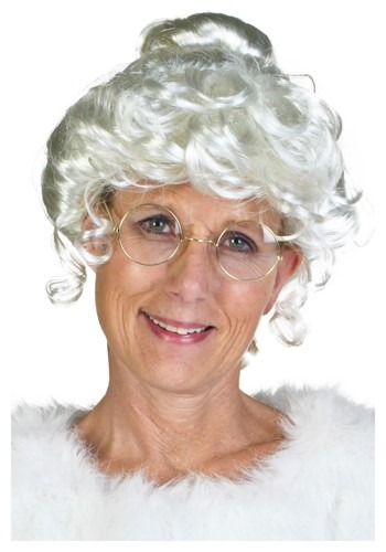 Click Here to buy Deluxe Mrs. Claus Wig from HalloweenCostumes, USA Funds & Shipping