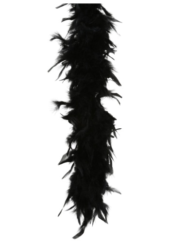 Black 80 Gram Feather Boa for Women