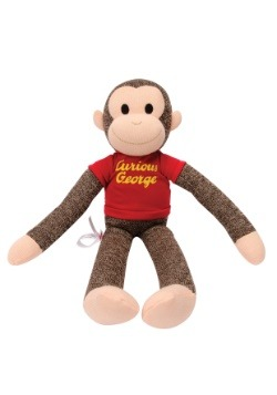 Sock Monkey Curious George Stuffed Figure