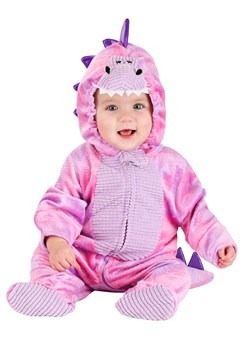 Infant Sleepy Pink Dino Costume New