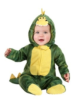 Infant Sleepy Green Dino Costume New
