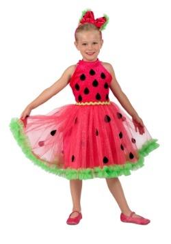Girls Watermelon Miss Costume