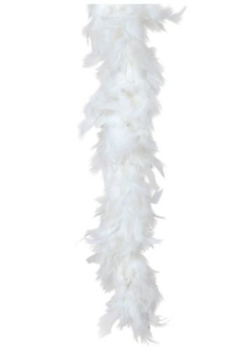 White 1920s Feather Boa for Women