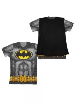 Batman Boys Sublimated Cape Costume T-Shirt