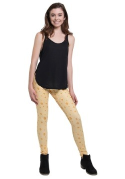 Womens Cheese Print Leggings