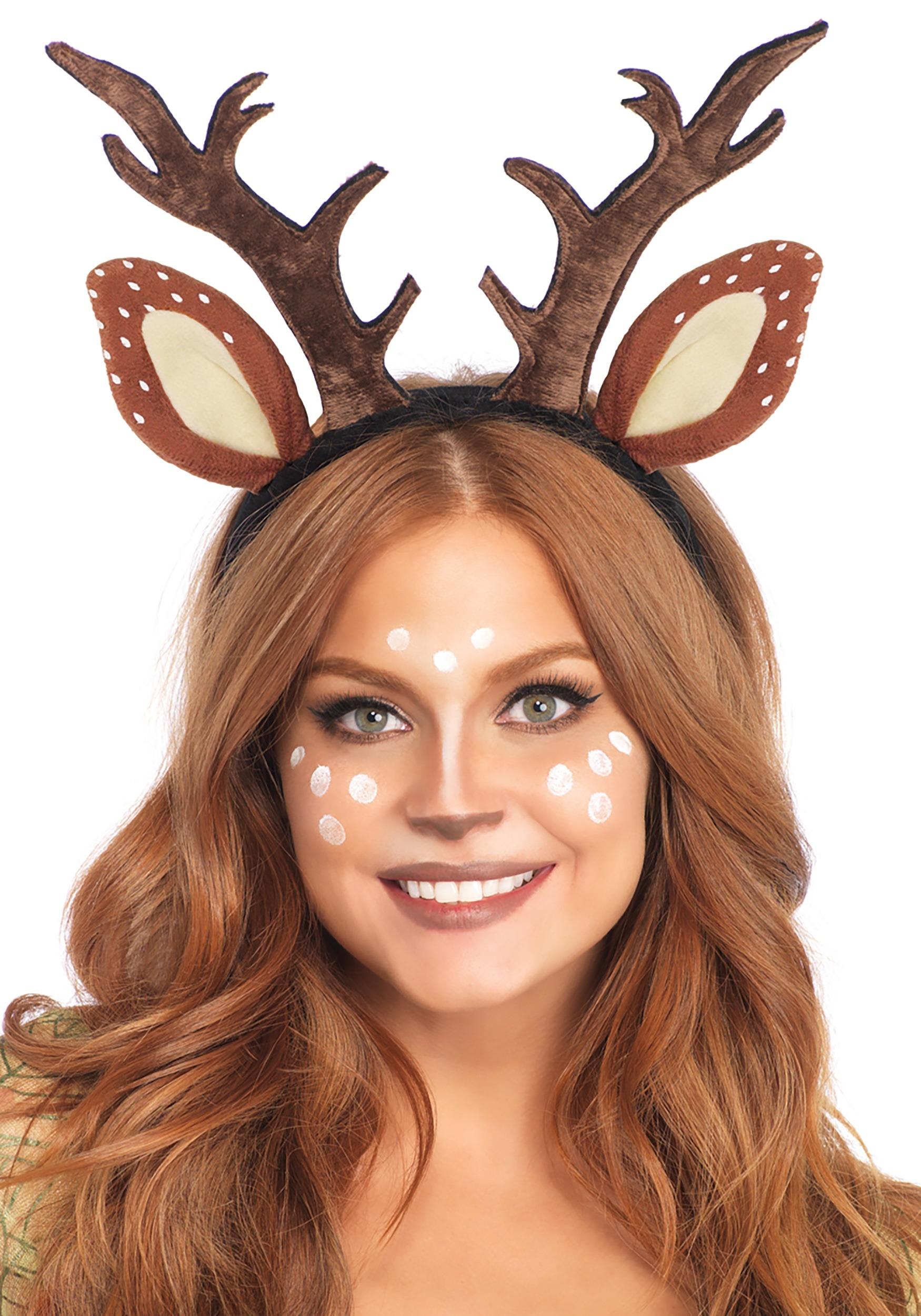 Christmas Brown Baby Reindeer Antlers and Ears Alice Hair Band Headband