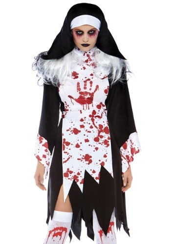 Click Here to buy Deadly Nun Womens Costume from HalloweenCostumes, CDN Funds