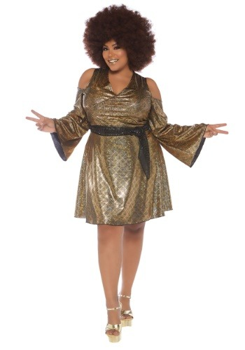 Women's Plus Size Disco Doll Costume-update1