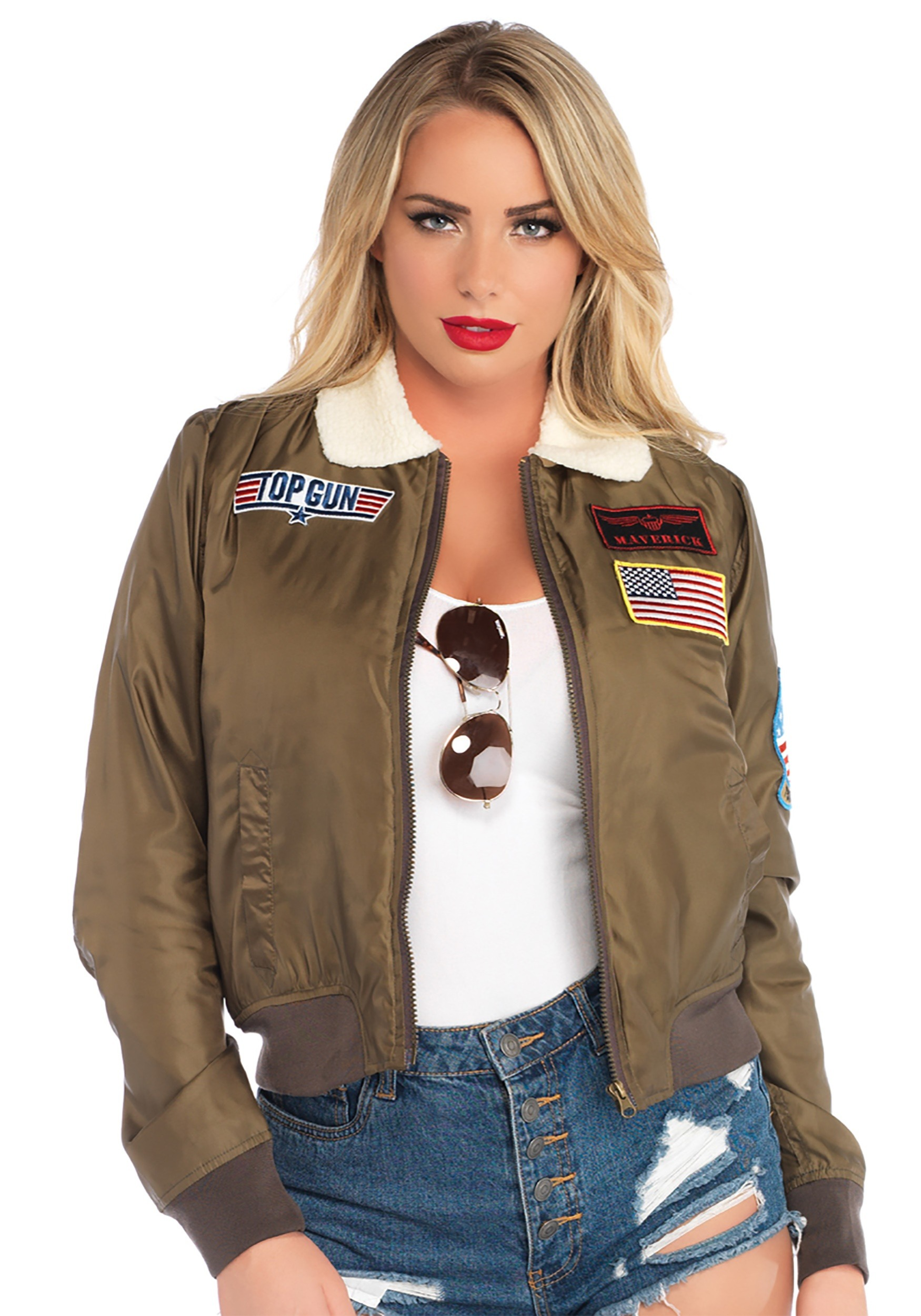 Top Gun Bomber Women S Jacket Costume