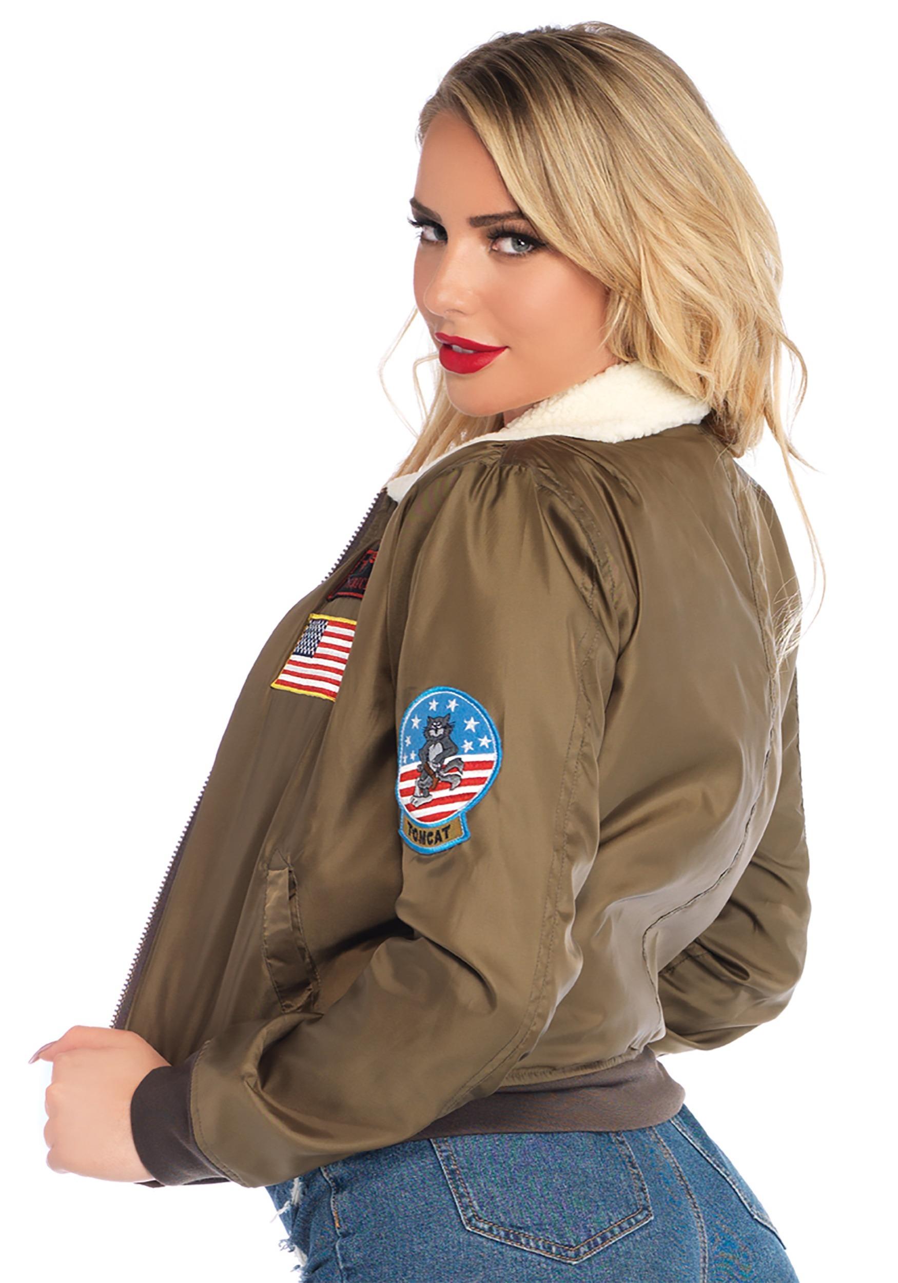 Top Gun Bomber Women S Jacket Costume