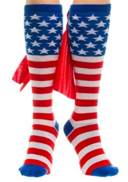 Knee High American Flag Cape Socks1