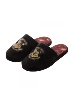 Adult Hogwarts Crest Black Slipper Slides