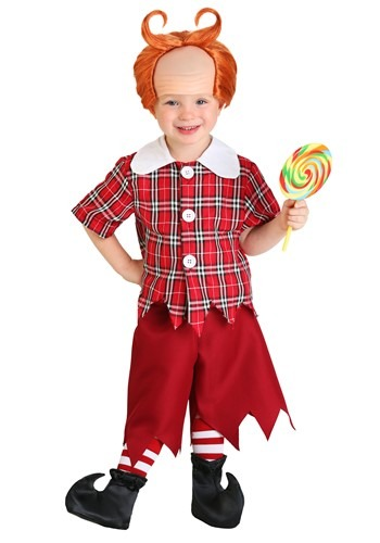 Click Here to buy Toddler Red Munchkin Costume from HalloweenCostumes, USA Funds & Shipping