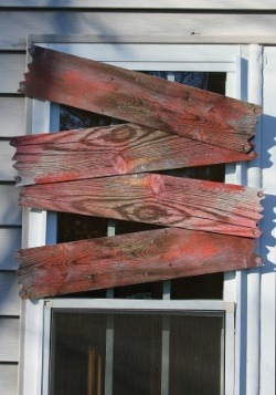 Haunted Window Boards - Blood Stains