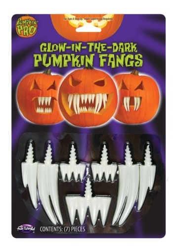 Glow in the Dark Pumpkin Fangs