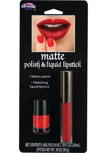 Red Matte Liquid Lipstick and Nail Polish