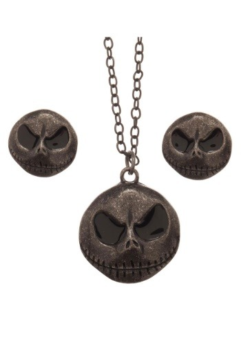 Jack Skellington Necklace and Earring Set1