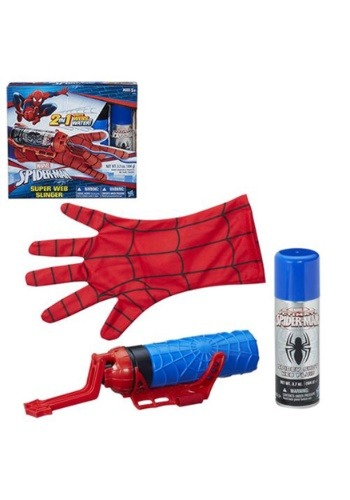 Click Here to buy Marvel Spider-Man Super Web Slinger Blaster Gun from HalloweenCostumes, USA Funds & Shipping