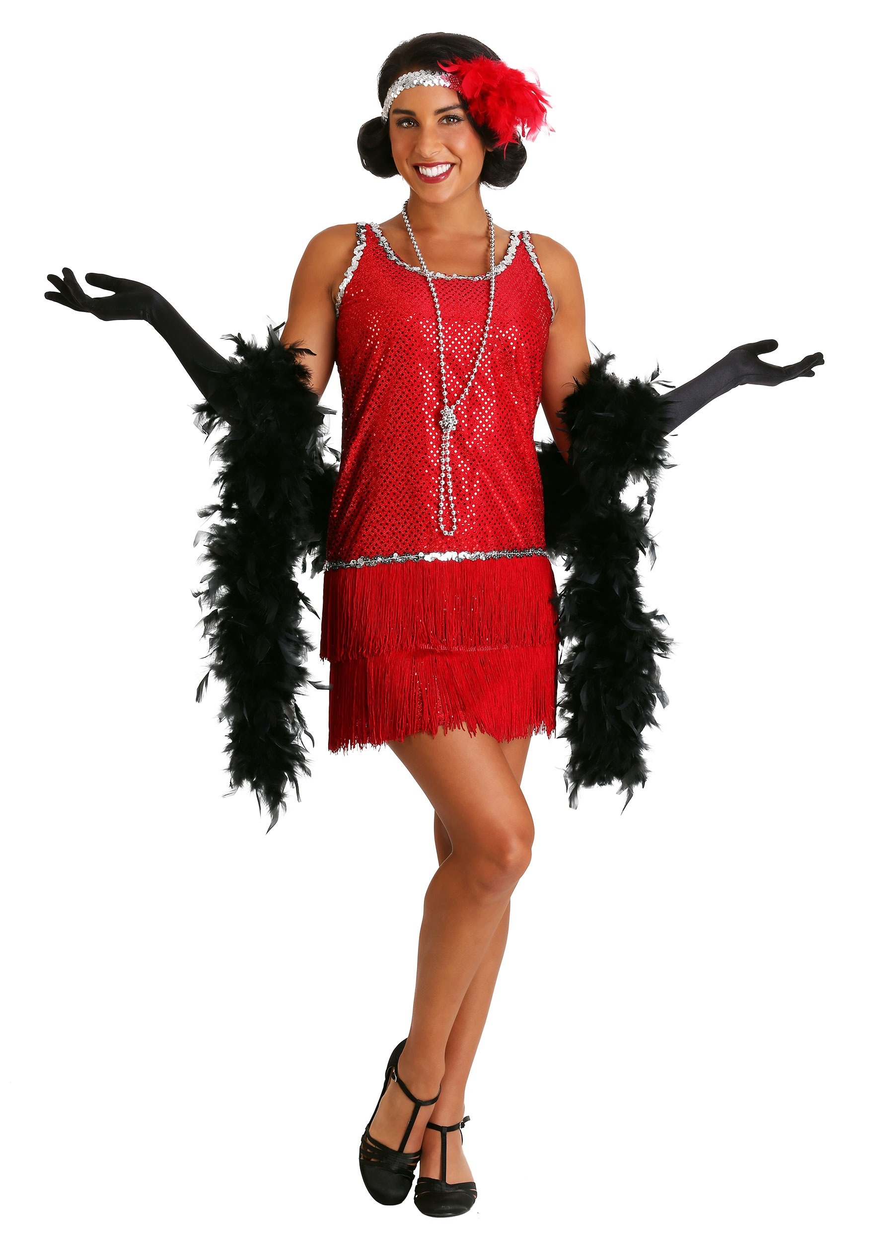 1920's Red Flapper Halloween Costume