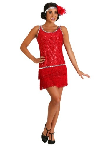 Image of 1920's Red Flapper Halloween Costume