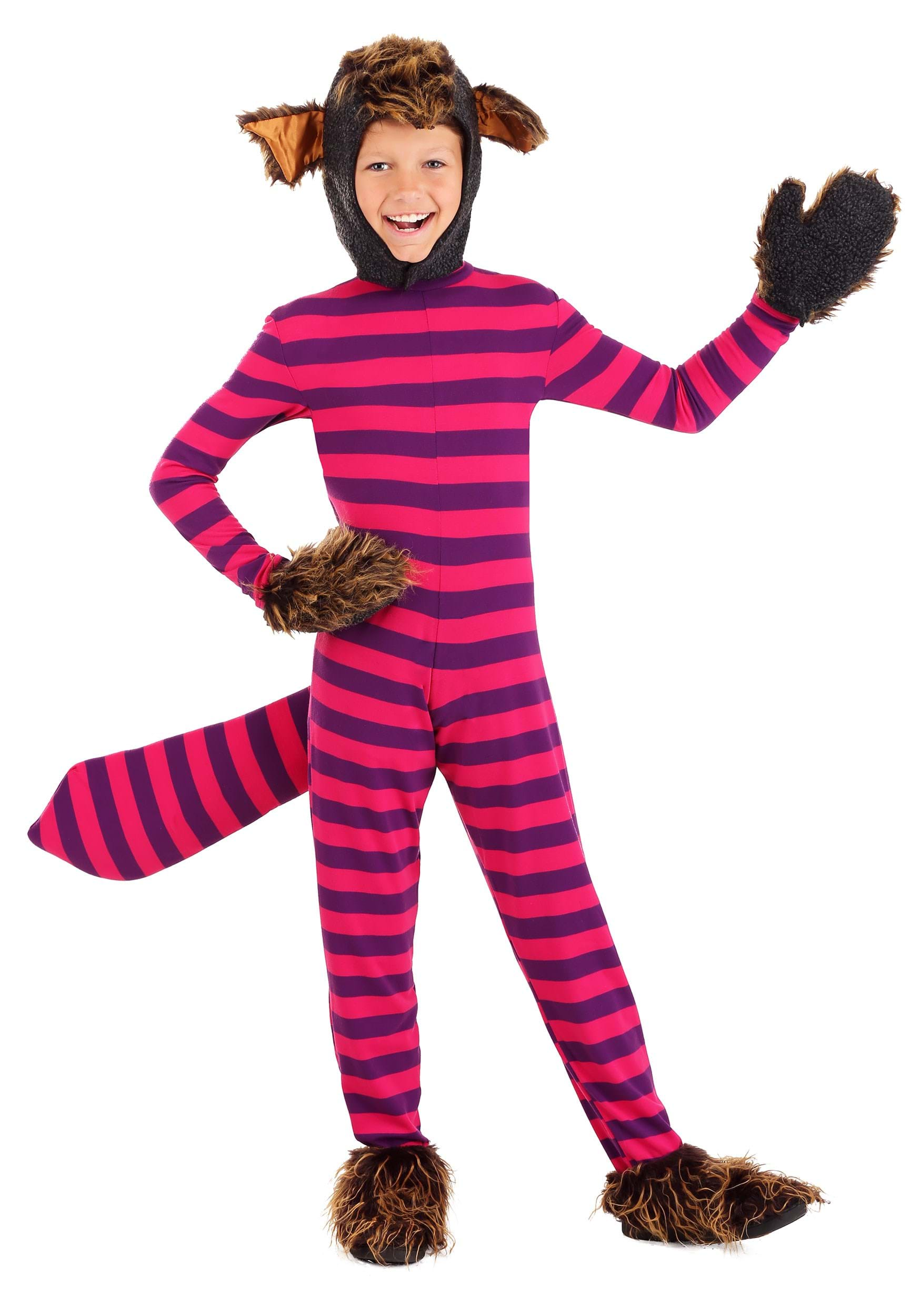 Child Deluxe Cheshire Cat Costume Kids Cheshire Cat Costume