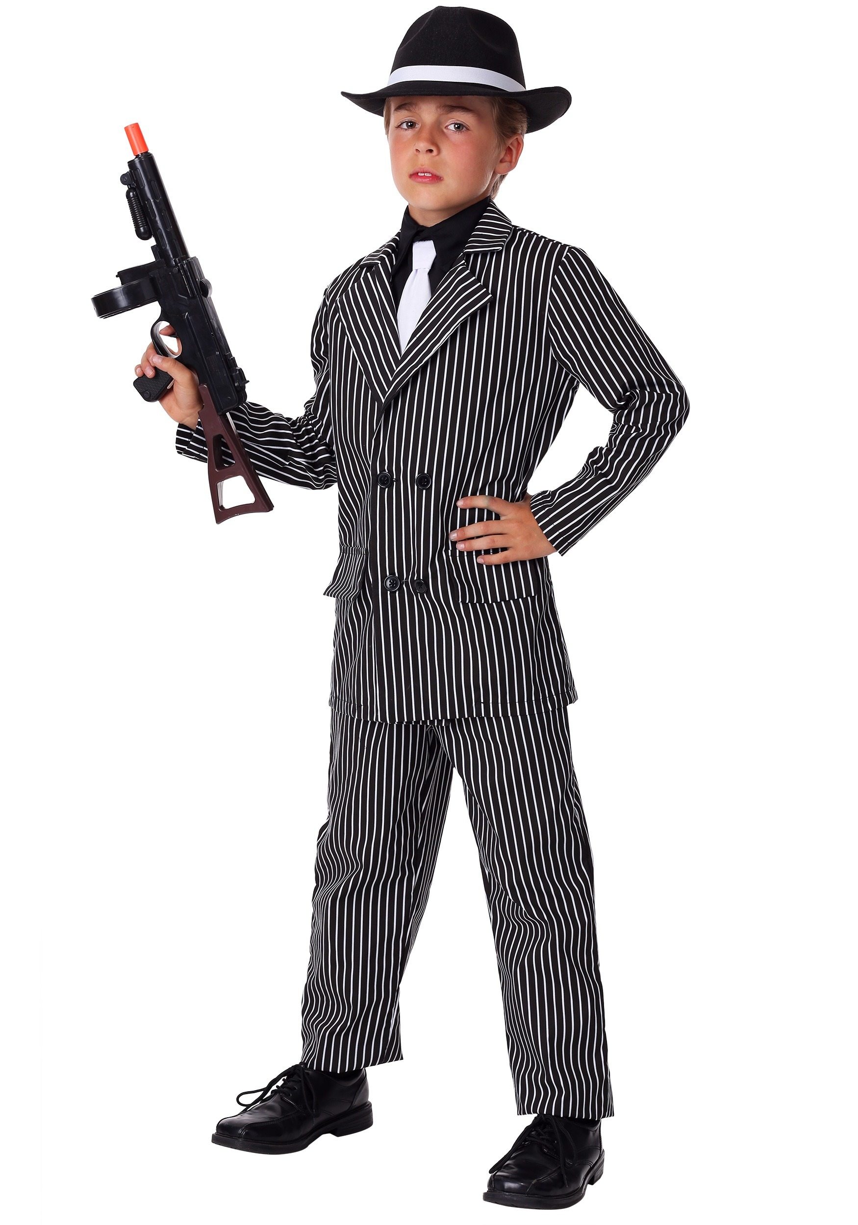 kids deluxe gangster costume - Halloween Mobster Costumes