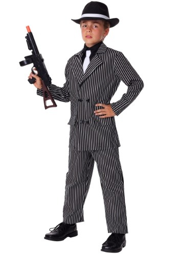 Kids Deluxe Gangster Costume1