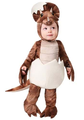 Click Here to buy Tiny Triceratops Dinosaur Costume for Toddlers from HalloweenCostumes, CDN Funds