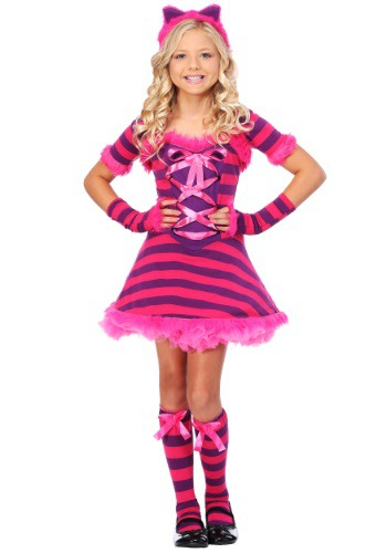 Click Here to buy Kids Sassy Wonderland Cat Costume from HalloweenCostumes, USA Funds & Shipping