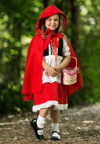 Girls Deluxe Little Red Riding Hood Costume