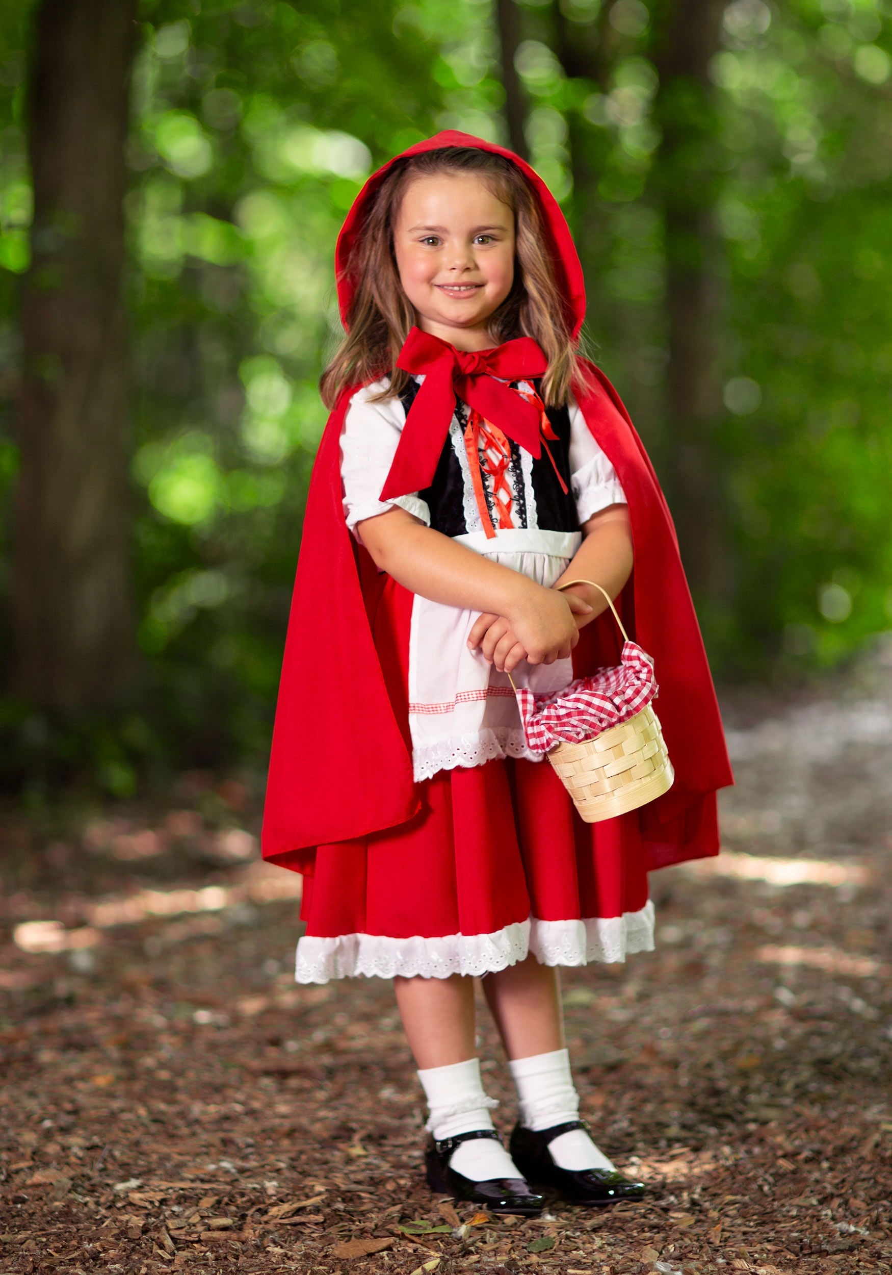 Little Red Riding Hood Kids Fancy Dress Costume 7-9 Cape And Fox Bag Included