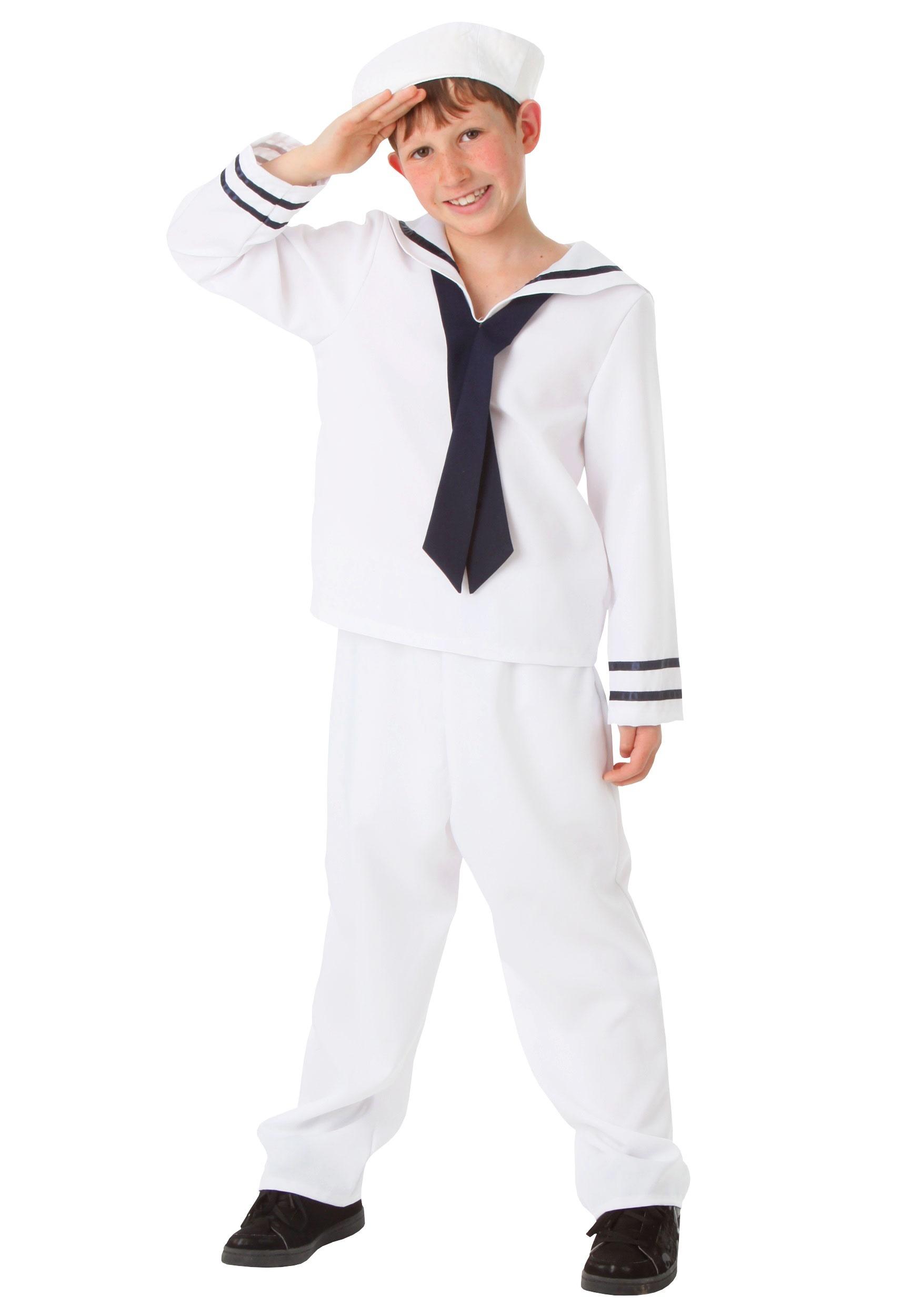 8ffe5179a Child White Sailor Costume