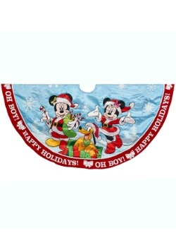 48 Inch Mickey and Minnie Printed Satin Treeskirt