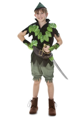 Click Here to buy Kids Deluxe Peter Pan Costume from HalloweenCostumes, USA Funds & Shipping