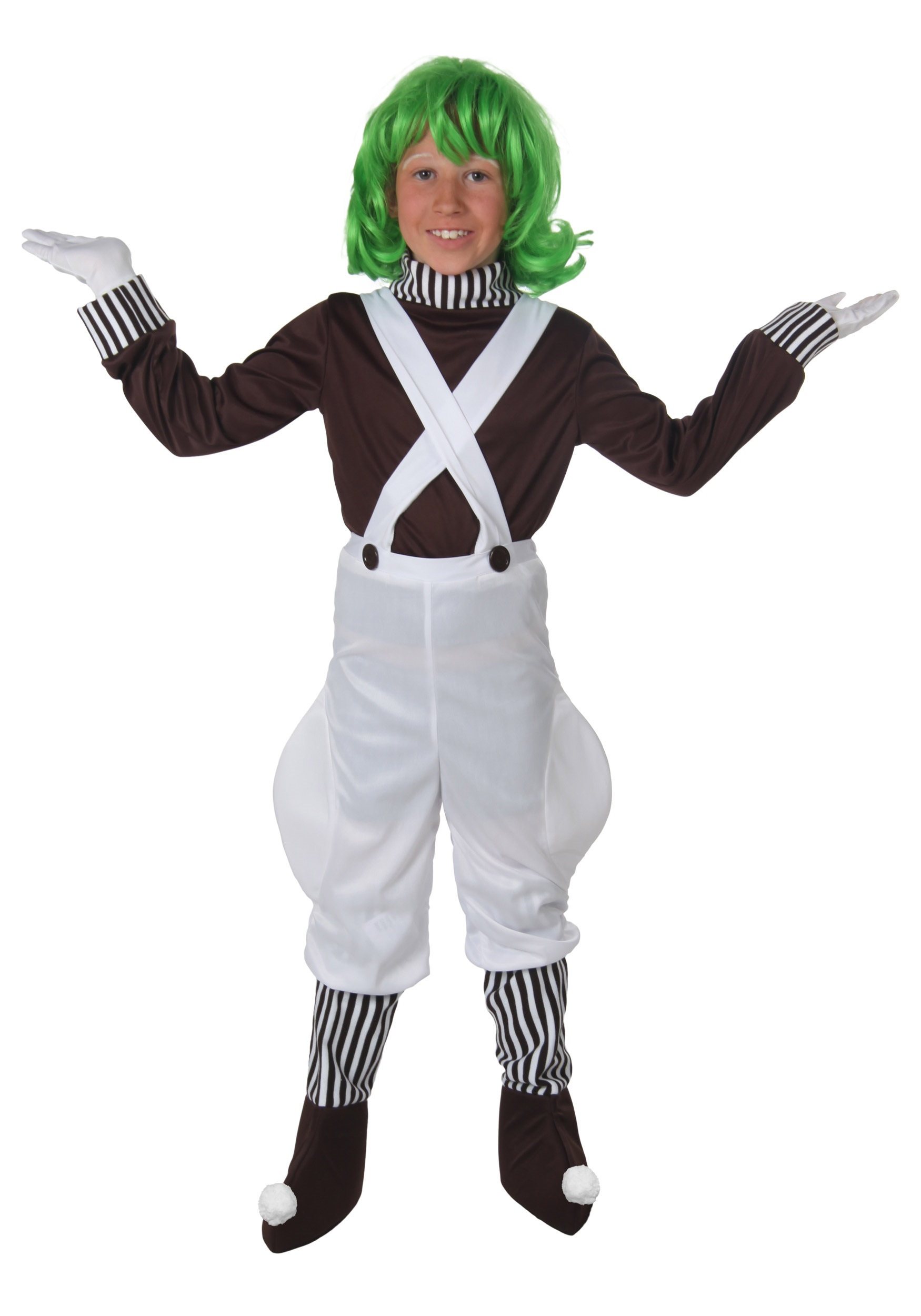Kids Chocolate Factory Worker Costume  sc 1 st  Halloween Costumes & Kids Oompa Loompa Costume