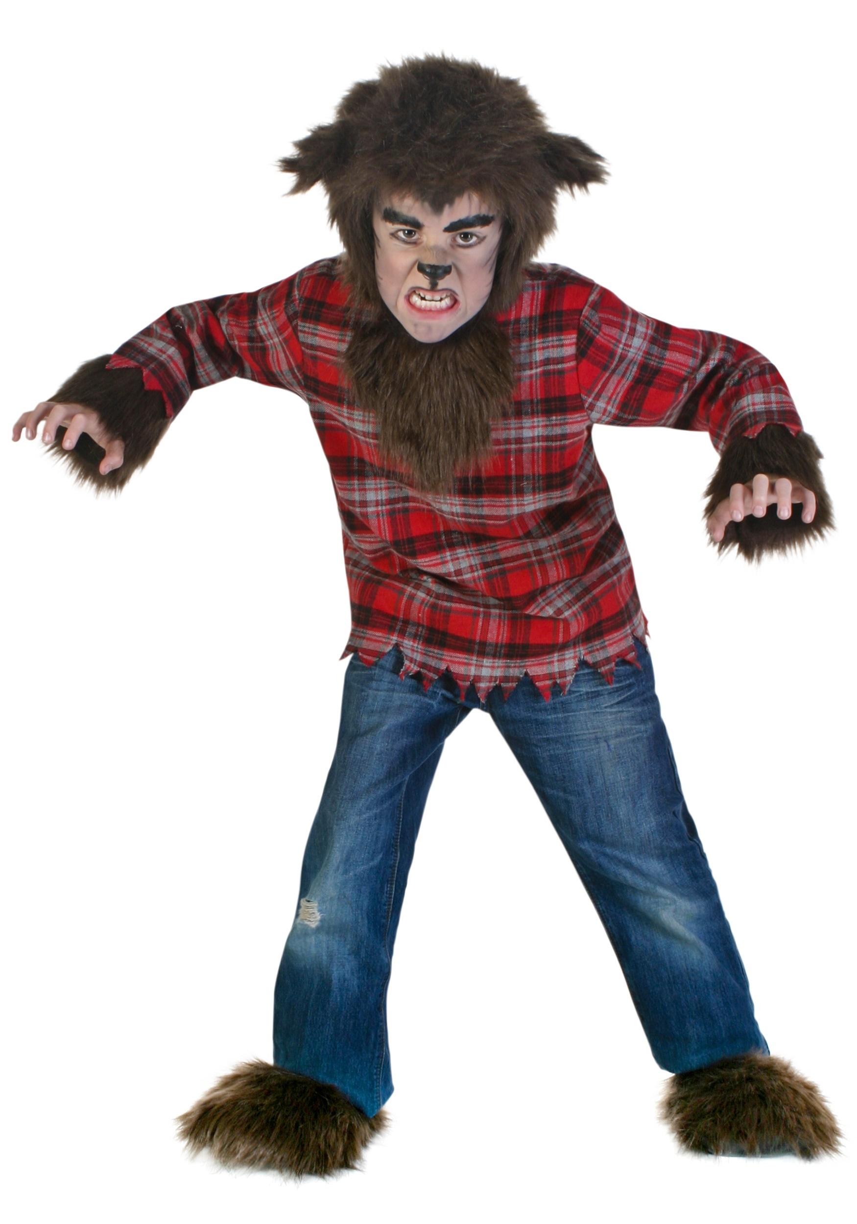 Aninimal Book: Fierce Werewolf Costume for Boys