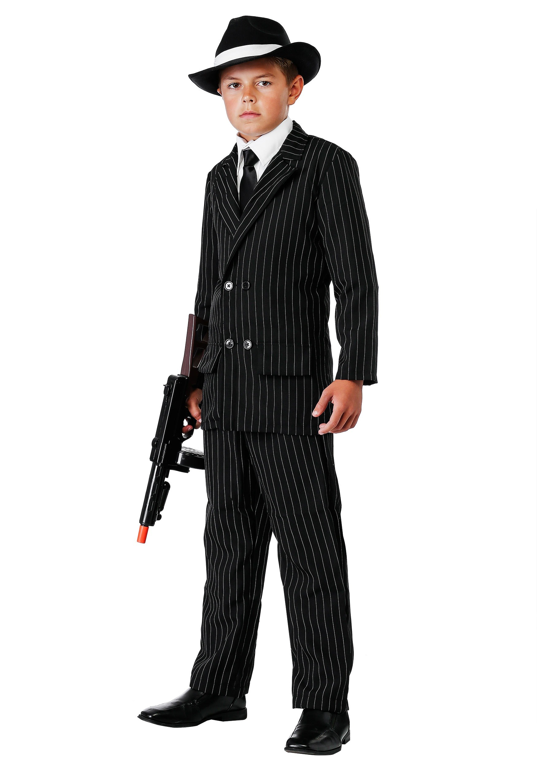 boys deluxe gangster costume suit