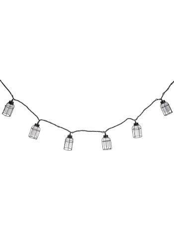 Edison Bulb Iron Cage 10-Piece String Light Set