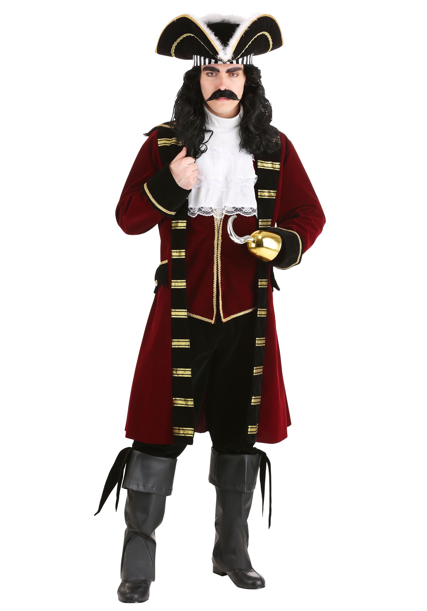 deluxe captain hook costume - Nj Halloween Stores